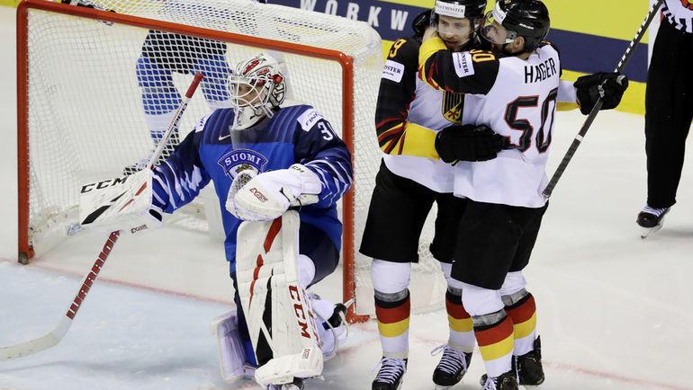 21 мая. Кошице. Финляндия – Германия – 2:4. Сборная Германии добилась неожиданной победы и запутала расклады в группе A. Фото Reuters