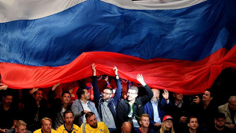 Россия против США - в первом раунде плей-офф ЧМ-2019. Фото AFP
