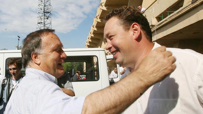 """2007 год. Дик Адвокат (слева) и Леонид Слуцкий. Фото """"СЭ"""""""