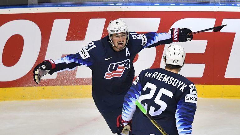 Хоккеист сборной США Дилан Ларкин. Фото AFP