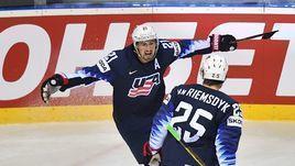 Хоккеист сборной США Дилан Ларкин.