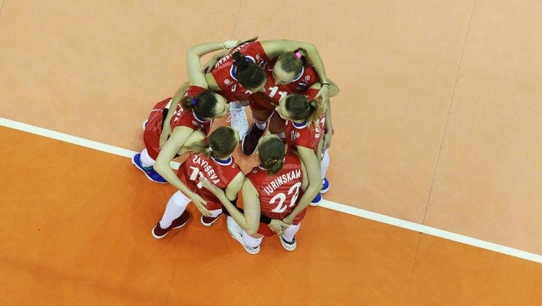 23 мая. Лига наций. Китай – Россия – 1:3. Россиянки празднуют победу. Фото volleyball.world