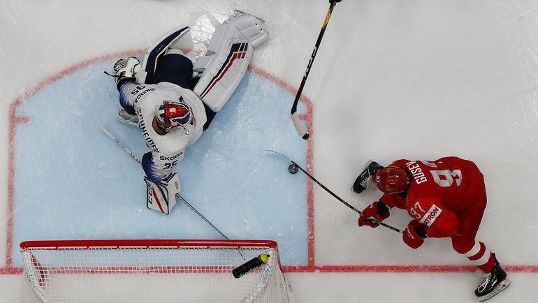 23 мая. Братислава. Россия - США - 4:3. Никита Гусев - автор первого гола. Фото Reuters