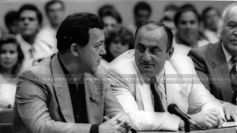 """1991 год. Иосиф Кобзон и Отари Квантришвили. Фото Александр Федоров, """"СЭ"""""""