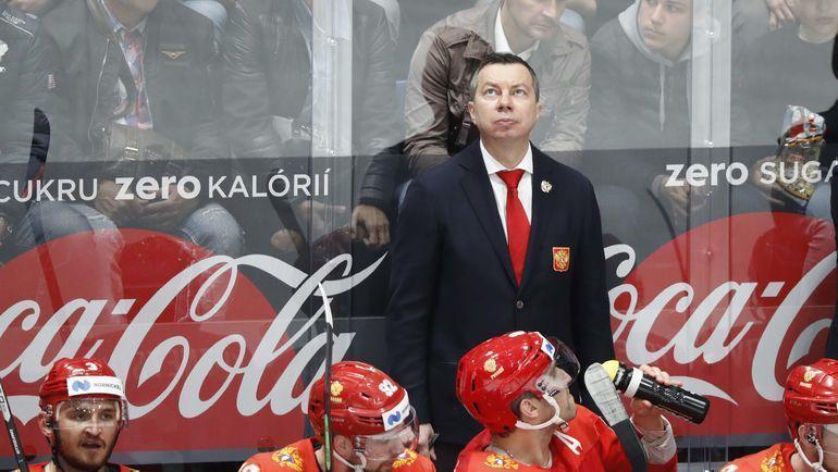 Главный тренер сборной России Илья Воробьев. Фото REUTERS