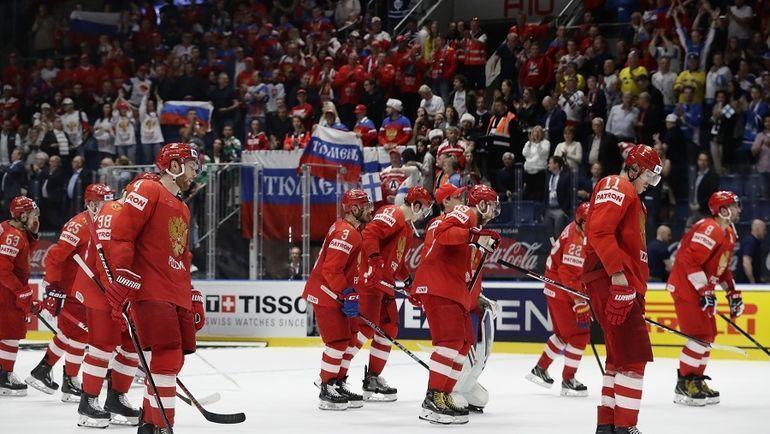 25 мая. Братислава. Россия - Финляндия - 0:1. Россияне не смогут побороться за золото в финале. Фото Reuters