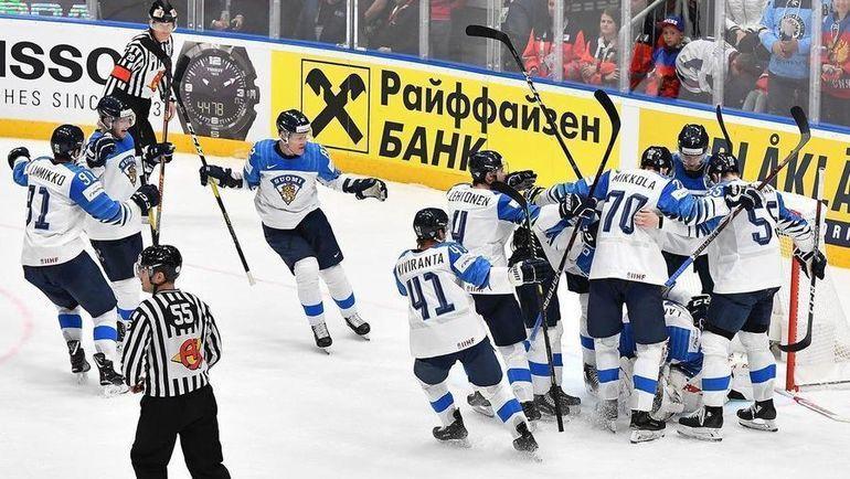 25 мая. Братислава. Россия - Финляндия - 0:1. Игроки финнской сборной празднуют выход в финал. И это еще не главная сенсация турнира. Фото Reuters