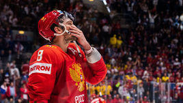 25 мая. Братислава. Россия - Финляндия - 0:1. Разочарование Александра Овечкина.