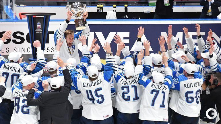 26 мая. Братислава. Сборная Финляндии - чемпион мира.