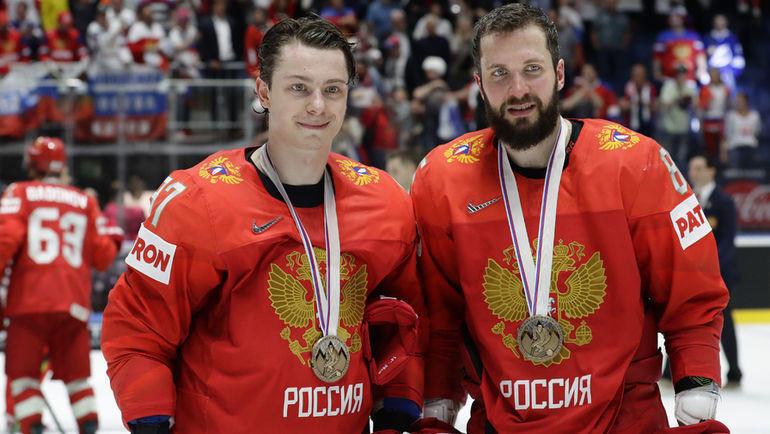 Никита Гусев и Никита Кучеров. Фото AFP