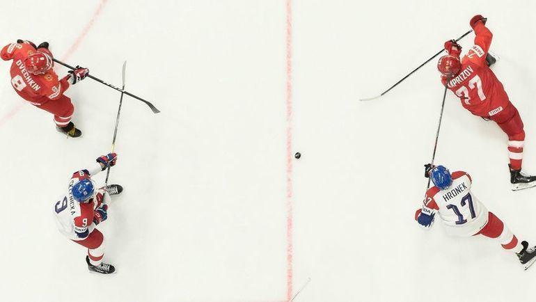 26 мая. Братислава. Россия - Чехия - 3:2 Б. Игровой момент матча. Фото AFP