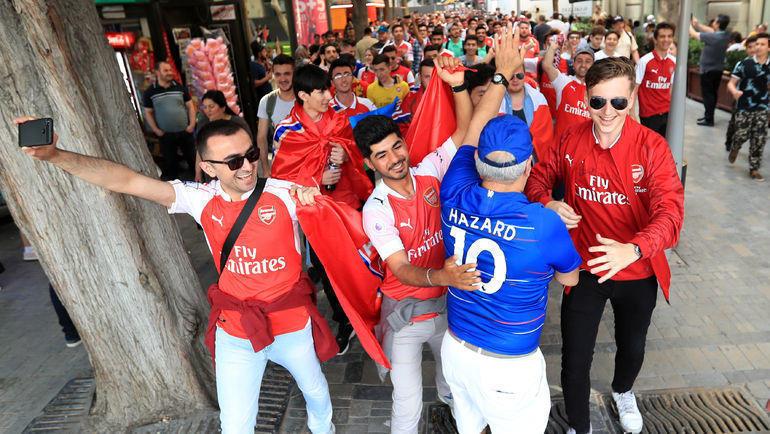 """28 мая. Баку. Болельщики """"Арсенала"""". Фото Reuters"""