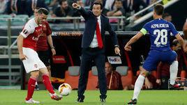 """29 мая. Баку. """"Челси"""" - """"Арсенал"""" - 4:1. Унаи Эмери (в центре) впервые проиграл финал Лиги Европы."""