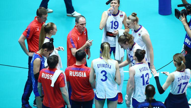 30 мая. Турция – Россия – 3:0. Россиянки потерпели пятое поражение на турнире. Фото FIVB