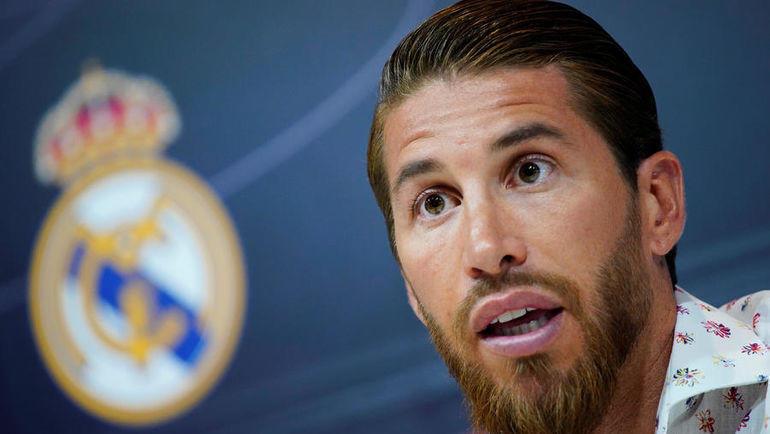 """30 мая. Мадрид. Серхио Рамос собрал специальную пресс-конференцию, чтобы рассказать о своей преданности """"Реалу"""". Фото Reuters"""