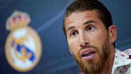 """30 мая. Мадрид. Серхио Рамос собрал специальную пресс-конференцию, чтобы рассказать о своей преданности """"Реалу""""."""