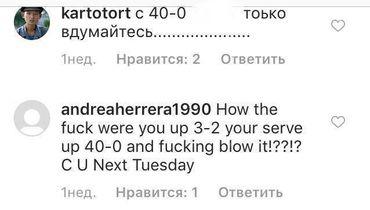 Комментарии на странице Кудерметовой в Инстаграме.