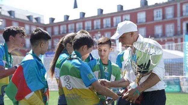 Финальный матч состоялся на площади Плаза-Майор в самом центре Мадрида. Фото «СЭ»