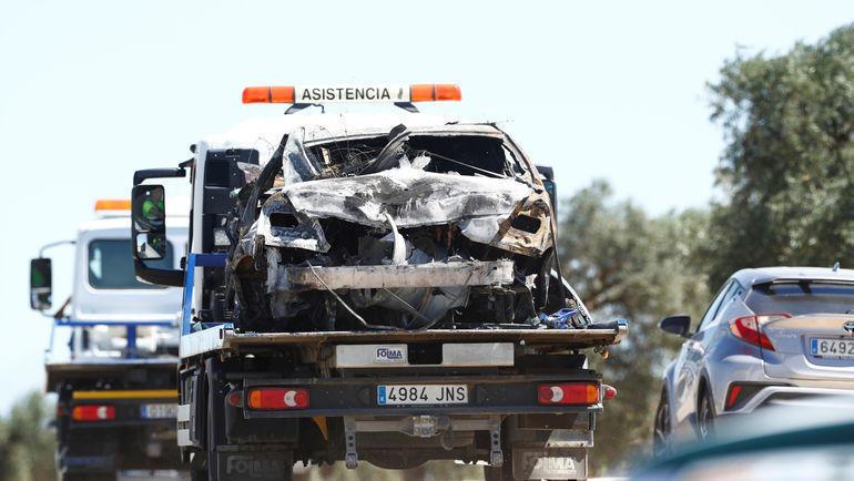 Автомобиль, за рулем которого был Хосе Антонио Рейес. Фото Reuters