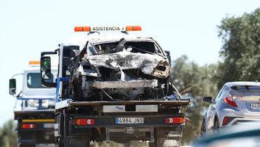 В Сети появилось фото разбитой машины Рейеса