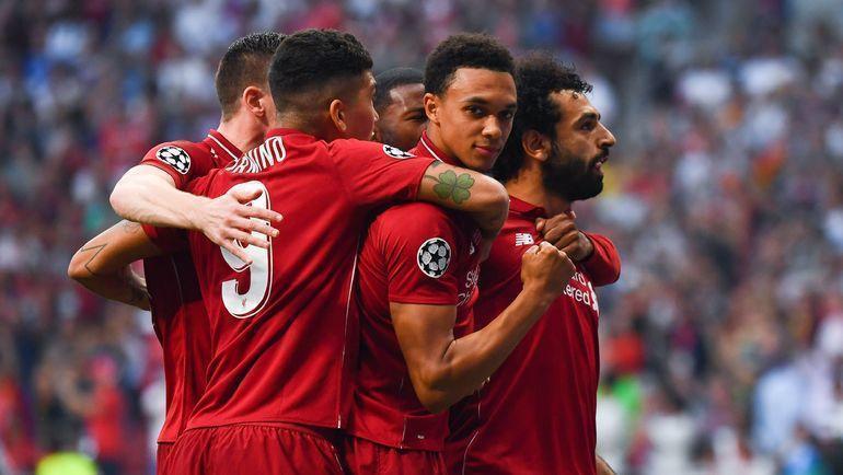 """1 июня. Мадрид. """"Тоттенхэм"""" - """"Ливерпуль"""" - 0:2. 2-я минута. """"Красные"""" празднуют первый гол. Фото AFP"""