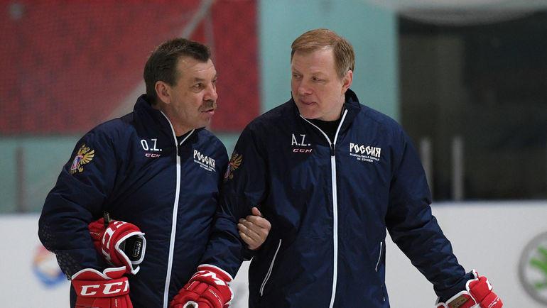 Олег Знарок и Алексей Жамнов. Фото Александр Федоров, «СЭ»