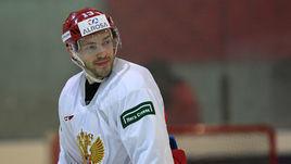 29 января 2018 года. Новогорск. Павел Дацюк во время тренировки.