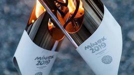 Огонь Европейских игр-2019 в Минске.