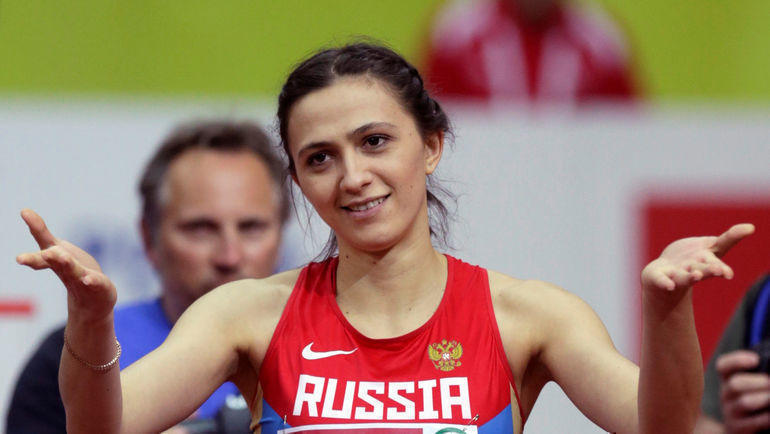 Мария Ласицкене (Кучина) и другие топ-атлеты продолжат выступать на соревнованиях ИААФ без триколора и гимна РФ. Фото REUTERS