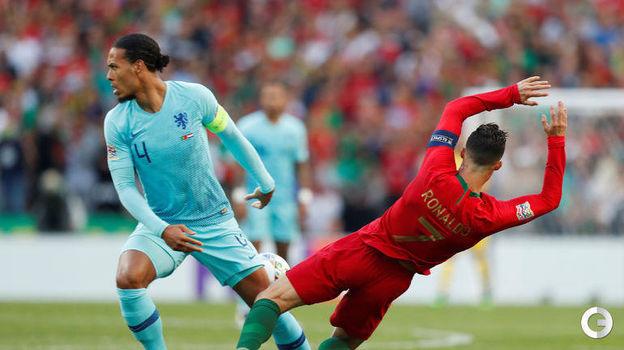 9 июня. Порту. Португалия - Голландия - 1:0. Криштиану Роналду и Вирджил ван Дейк. Фото Reuters
