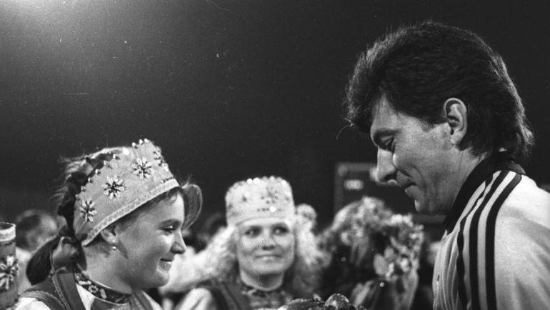 15 ноября 1989 года. Ринат Дасаев. Фото Александр Федоров, «СЭ»
