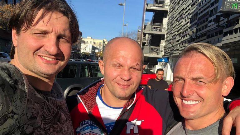 Эдгар Запашный (слева), Федор Емельяненко (в центре) и Аскольд Запашный. Фото Инстаграм