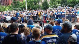 """Чемпионский парад """"Сент-Луиса""""."""