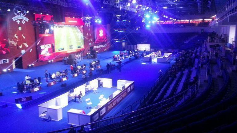 Пустые трибуны на турнире Moscow Cyber Cup. Фото Телеграм-канал Cyberslovo