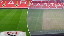 Что случилось с полем стадиона