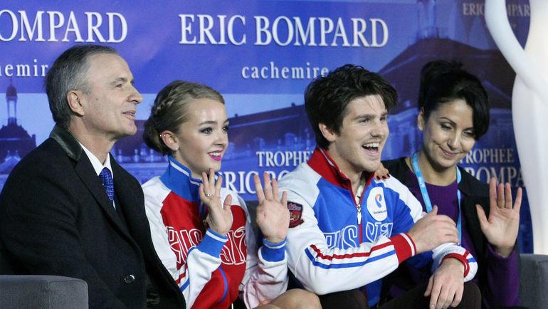 13 ноября 2015 года. Бордо. Александр Свинин, Александра Степанова, Иван Букин и Ирина Жук (слева направо).