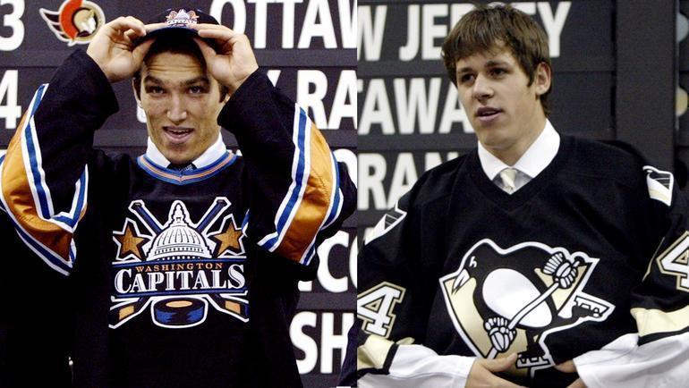 2004 год. Александр Овечкин и Евгений Малкин на драфте НХЛ.