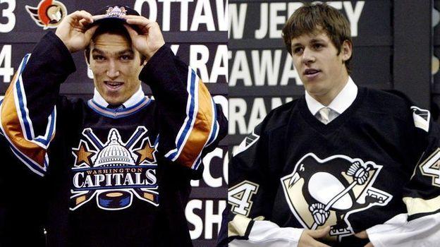 15 лет назад Александра Овечкина и Евгения Малкина выбрали на драфте НХЛ