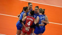 19 июня. Россия – Таиланд – 1:3. Игроки женской сборной России.