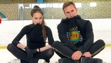 Алина Загитова и хореограф Даниил Глейхенгауз.