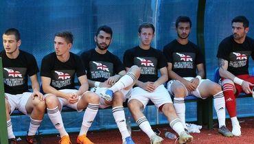 Два российских футболиста сыграли за грузинский клуб в майках с антироссийскими лозунгами
