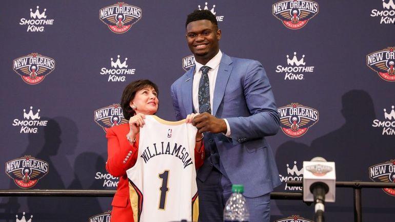 """Первый номер драфта НБА - Зайон Уильямсон будет играть за """"Нью-Орлеан"""". Фото НБА"""