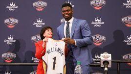 """Первый номер драфта НБА - Зайон Уильямсон будет играть за """"Нью-Орлеан""""."""