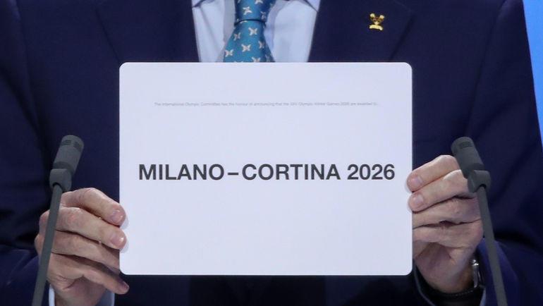 24 июня. Лозанна. Милан и Кортина-д'Ампеццо примут Олимпийские игры в 2026 году. Фото Reuters