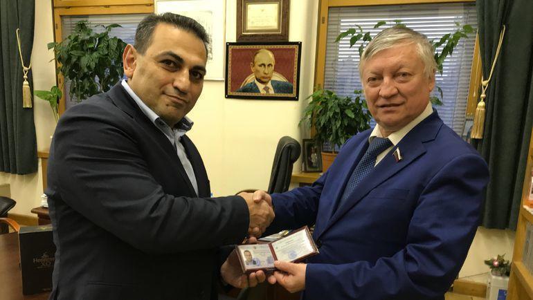 Альберт Степанян и Анатолий Карпов.