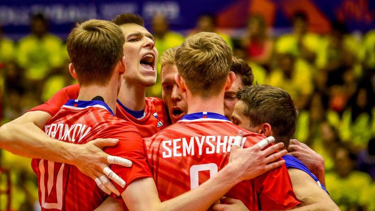 Волейболисты сборной России готовятся сыграть с Австралией. Фото volleyball.world