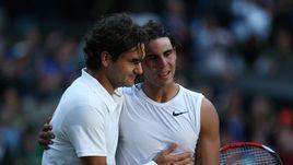 Роджер Федерер и Рафаэль Надаль.