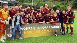 Команда из валлийского университета дебютировала в Лиге Европы.