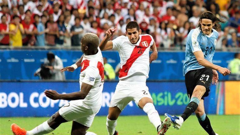 Уругвай - Перу. Фото Федерация футболая Уругвая.