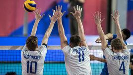 30 июня. Брисбен. Россия - Китай - 3:0. Игроки сборной России.